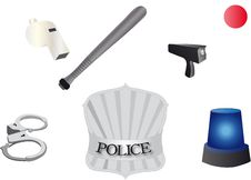 Free Police Accessories Royalty Free Stock Images - 17158709