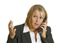Free Woman With Stress In The Office Royalty Free Stock Image - 17159176