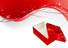Free Gift Red Box With A Bow Royalty Free Stock Photography - 17159507