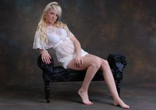 Free Beautiful Young Woman In Lace Dress Stock Photos - 17159773