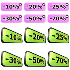 Sale Label Sets Stock Photo