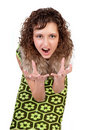 Free Portrait Of The Shouting Girl Stock Photography - 17162792