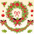 Free Chrtistmas Decoration Set With Holly Berry Stock Photography - 17165432