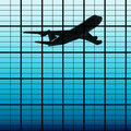 Free Reflect Of Plane In Skyscraper Stock Photos - 17165463