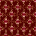 Free Gold Pattern On A Red Background Stock Photography - 17168232
