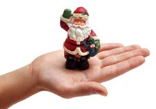 Free Santa Claus On A Hand Royalty Free Stock Image - 17160406