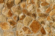 Free Orange Tinted Stone Wall Background Royalty Free Stock Images - 17160609