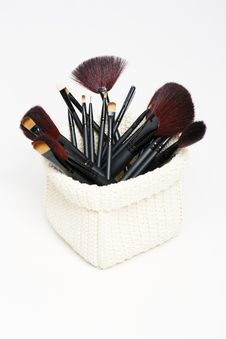 Free Professional Cosmetic Brushes Royalty Free Stock Photography - 17160797