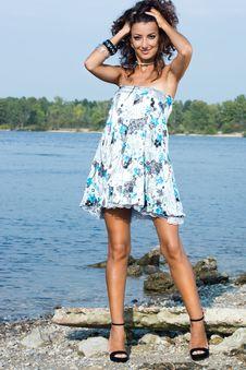 Free Woman Near The Sea Stock Photo - 17160850