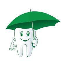 Free Tooth Under The Umbrella Icon Royalty Free Stock Photos - 17161088
