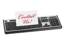Free Computer Keyboard And Card Contact Us Royalty Free Stock Photography - 17161127
