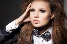 Free Woman With Bow-tie Stock Photo - 17161200