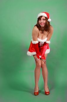 Free Sexy Girl In Santa Outfit Stock Photo - 17161590