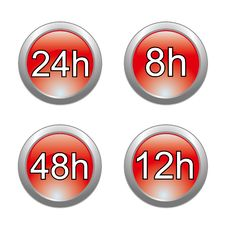 Free Delivery Glossy Buttons Royalty Free Stock Images - 17162479