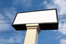 Blank Billboard Royalty Free Stock Image