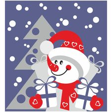 Free Snowman Color 21 Stock Image - 17162721
