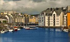 Free Downtown Of Alesund Stock Photography - 17163202