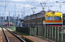 Free Veiw On Rails-train Station In Riga, Latvia Royalty Free Stock Photos - 17163248