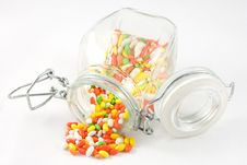 Indian Aniseed Candy In A Kilner Style Jar Stock Image