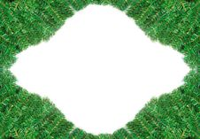 Beautiful Green Pine Branch Frame For Christmas Royalty Free Stock Images