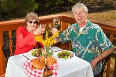 Free Couple Toasting The Viewer Royalty Free Stock Photos - 17163748