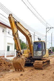 Free Excavator Loader With Backhoe Stock Image - 17163751