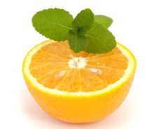 Free Orange With Mint Royalty Free Stock Images - 17164099