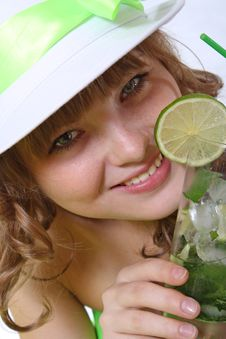 Free Cocktail With An Ice And Mint Stock Images - 17164474