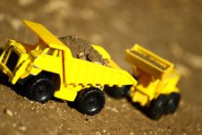 Free Dirt Works, Toys Royalty Free Stock Photography - 17164877