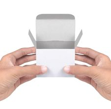 Free Hand Holding White Cardboard Royalty Free Stock Photography - 17165287