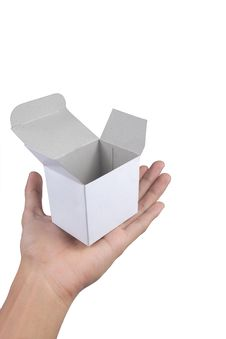 Free Hand Holding White Cardboard Stock Photography - 17165352