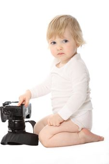 Free Baby With Camera Royalty Free Stock Images - 17165379
