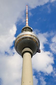 Berlin Tv Tower Landmark Stock Photos