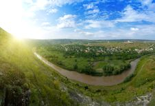 Free Beautiful Panorama Of Moldavian Landscape Royalty Free Stock Photography - 17165777