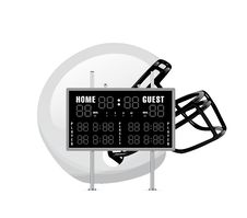 Home And Guest Scoreboard Royalty Free Stock Photography