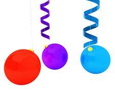 Free Christmas Tree Decor And Ribbons Royalty Free Stock Image - 17167476