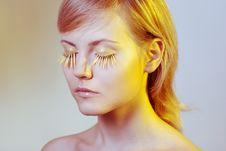 Free Woman Wearing Petal Eyelashes Stock Photos - 17167693