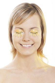 Free Woman Wearing Petal Eyelashes Stock Image - 17167721
