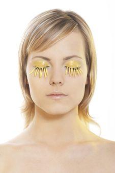 Free Woman Wearing Petal Eyelashes Stock Image - 17167731