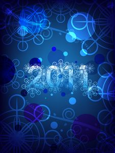 Happy  New Years 2011 Royalty Free Stock Image