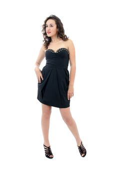 Free Attractive Young Woman In Black Dress Stock Images - 17169074