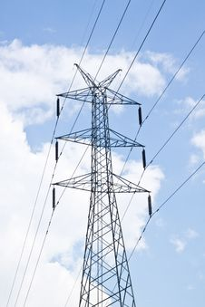 Free Detail Of Electricity Pylon Against Blue Sky Stock Photos - 17169313