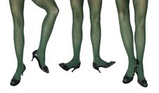 Studio Photo Of The Female Legs In Colorful Tights Royalty Free Stock Photo