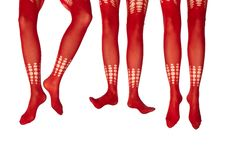 Free Studio Photo Of The Female Legs In Colorful Tights Royalty Free Stock Photos - 17169948
