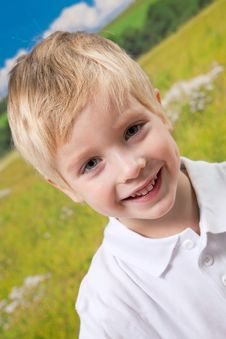 Free Smiling Boy On Natural Background Royalty Free Stock Photography - 17169987
