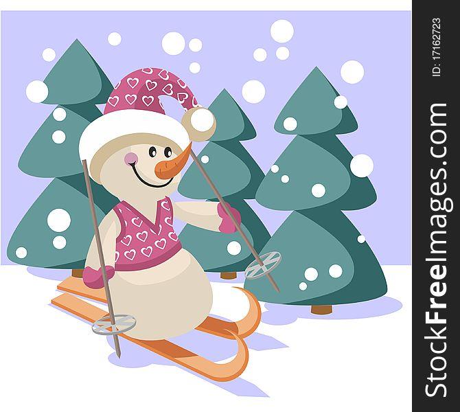 Snowman color 18
