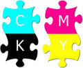 Free Puzzle With Letters Cmyk Royalty Free Stock Photos - 17170378