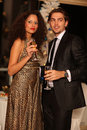 Free Happy Young Couple With Champagne Glasses Stock Image - 17170841