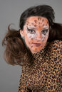 Free Portrait Of Girl With Leopard S Face-art Stock Photos - 17170963