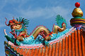 Free Dragon Statue On Chinese Style Roof Stock Image - 17175641